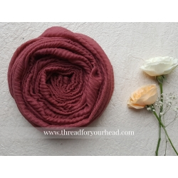 Pleated cotton- rouge