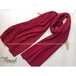 pleated georgette- red