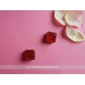 Square magnetic pin-  red set of 2