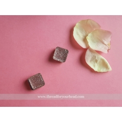 Square magnetic pins- mauve set of two