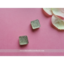 Square Magnetic Pin- light gold set of two pins