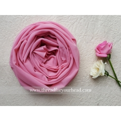 rose pink- malaysian georgette
