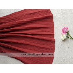 Coral- pleated georgette
