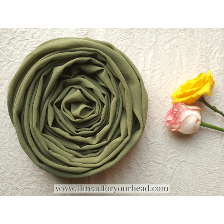 Olive - Malaysian Georgette