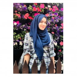 Crinkled cotton hijab- navy